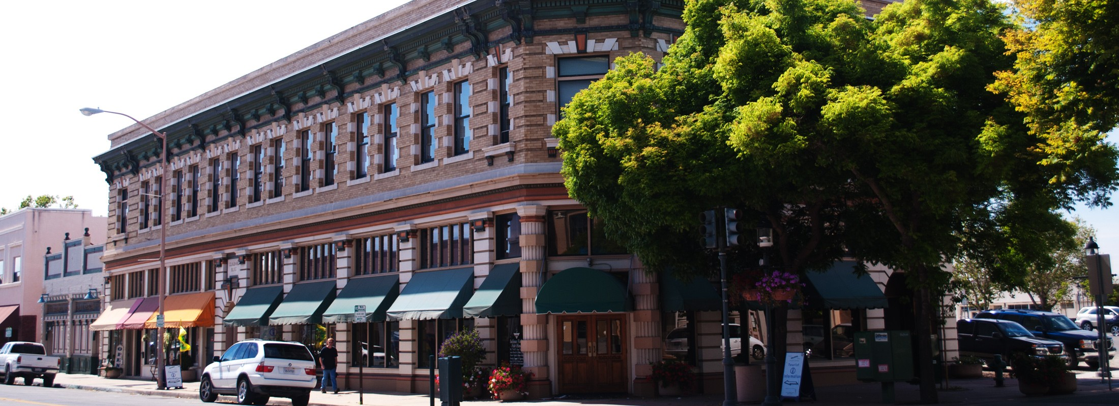 Salinas Old Town Main Street Red Brick Building and Tree