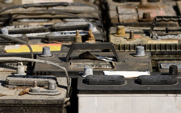 Old batteries