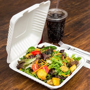 Compostable Take Out Containers Salad And Drink